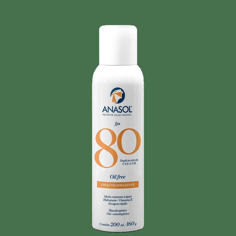 Anasol Spray Transparente FPS 80 - Protetor Solar 200ml