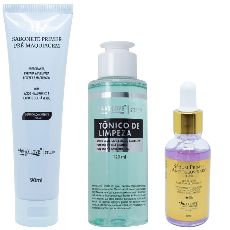 Max Love Kit Facial Antioleosidade (3 produtos)