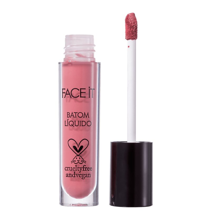 Batom Líquido Matte FACE IT Vegan Beauty Lovely 5ml