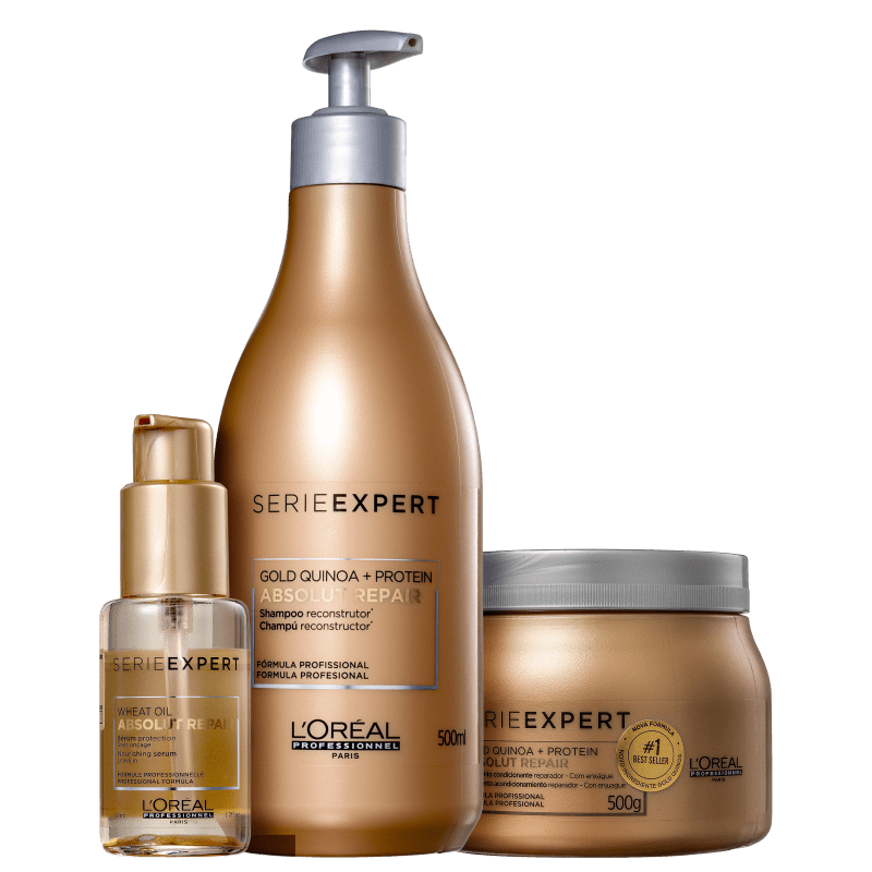 Kit Tratamento Completo L'Oréal Professionnel Serie Expert Absolut Repair Gold Quinoa + Protein Completo