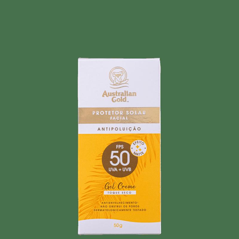 Australian Gold Antipoluição FPS 50 - Protetor Solar Facial 50g