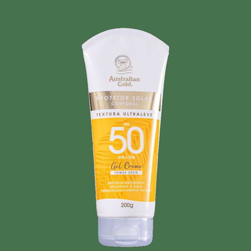 Protetor Solar Australian Gold Gel Creme FPS50 Corporal 200g