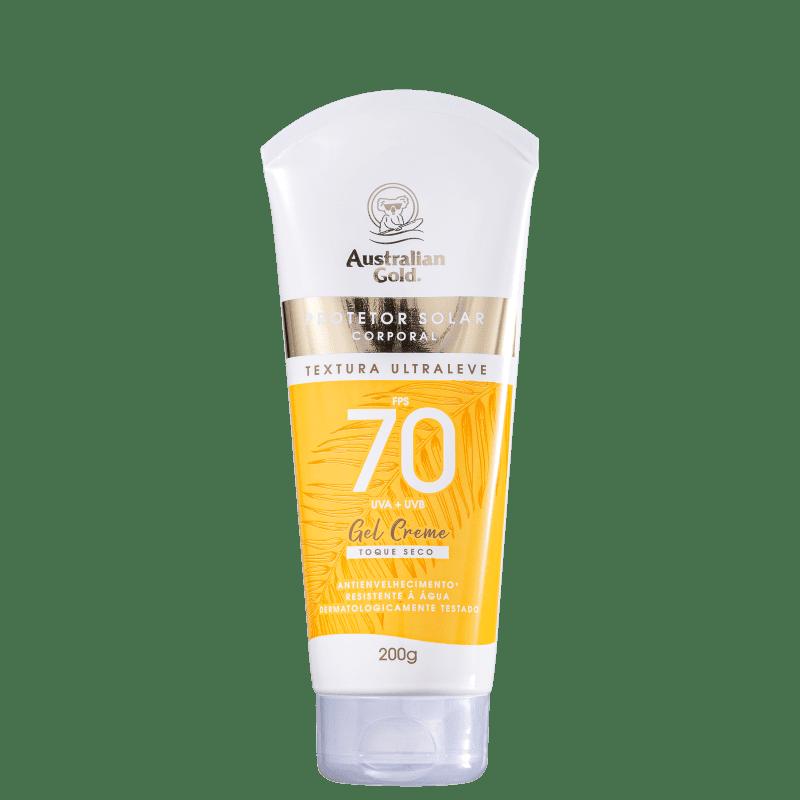 Protetor Solar Australian Gold Gel Creme FPS70 Corporal 200g