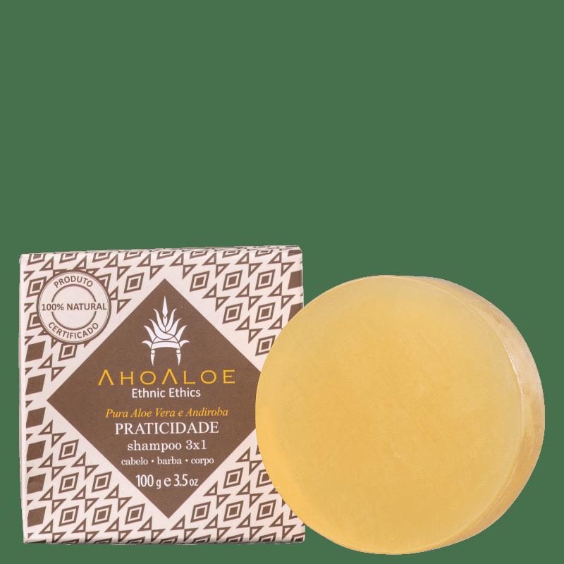 Ahoaloe Praticidade 3x1 - Shampoo Sólido 100g
