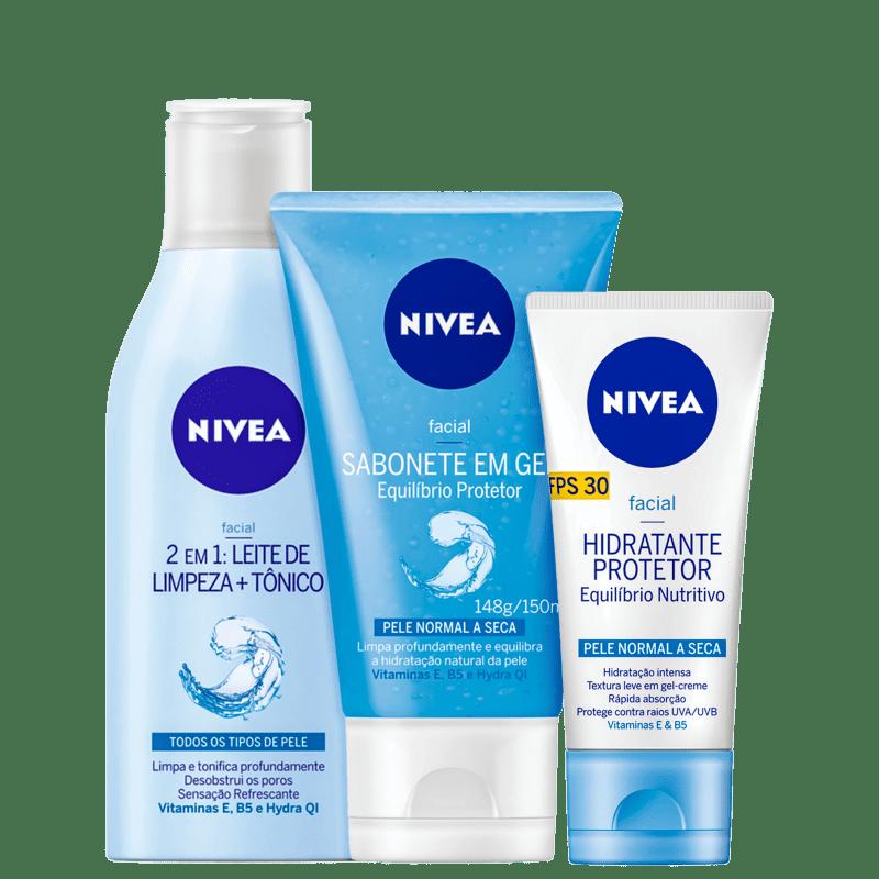 Kit NIVEA Equilíbrio Protetor + Nutritivo (3 Produtos)