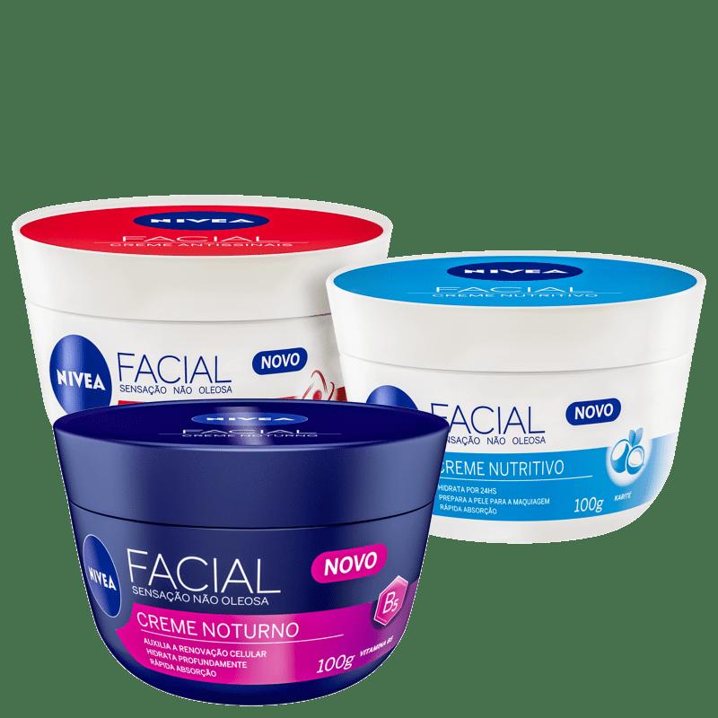 Kit NIVEA Facial Trio (3 Produtos)