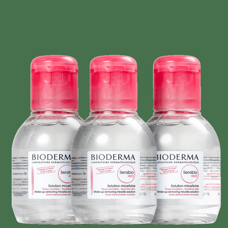 Kit Bioderma Sensibio H2O Trio - Água Micelar 3x100ml