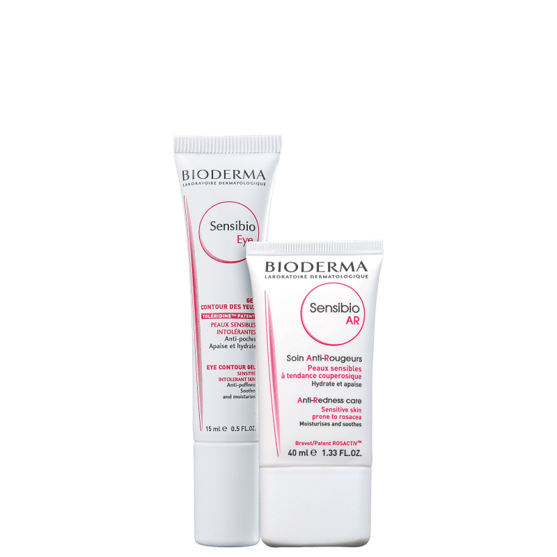 Kit Bioderma Sensibio Eye & Face (2 Produtos)