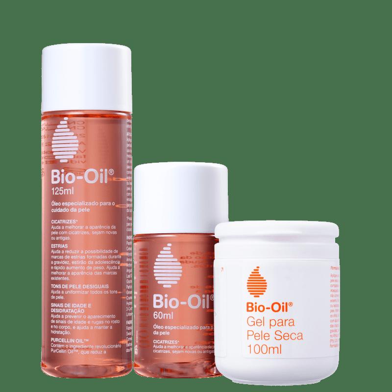 Kit Bio-Oil Óleo Restaurador & Gel Hidratante (3 produtos)