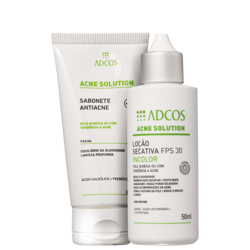 Kit Adcos Acne Solution Incolor (2 Produtos)