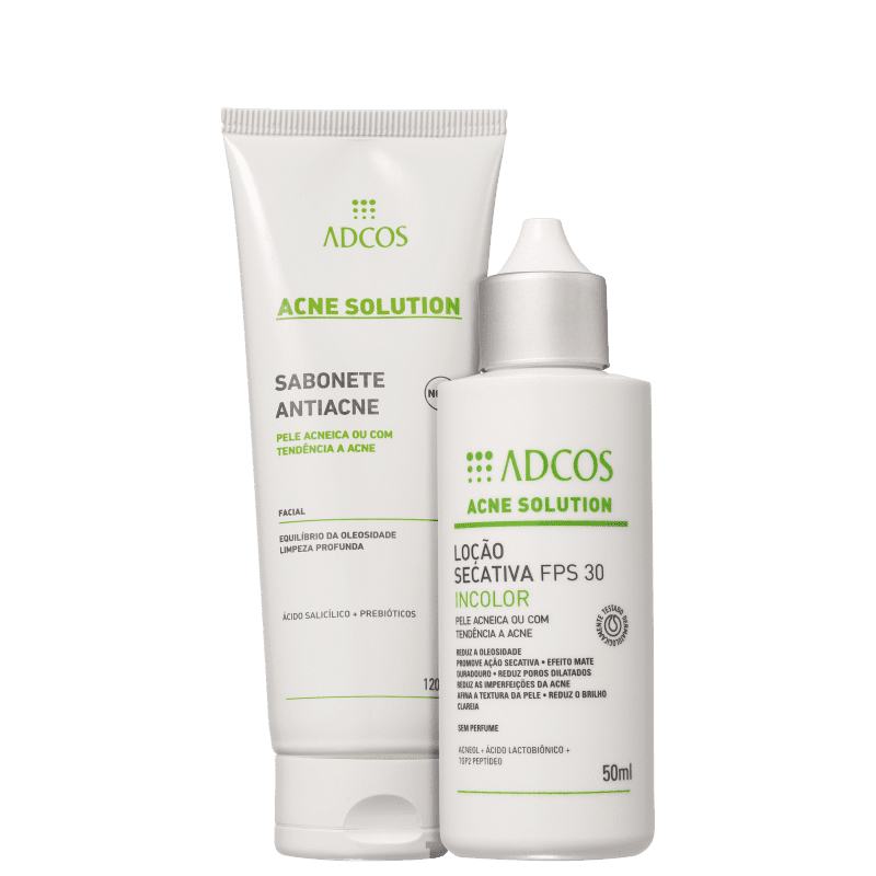 Kit Adcos Acne Solution Incolor Plus (2 Produtos)