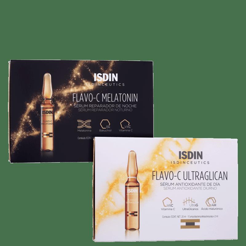 Kit ISDIN Duo Sérum Noite e Dia (2 produtos)