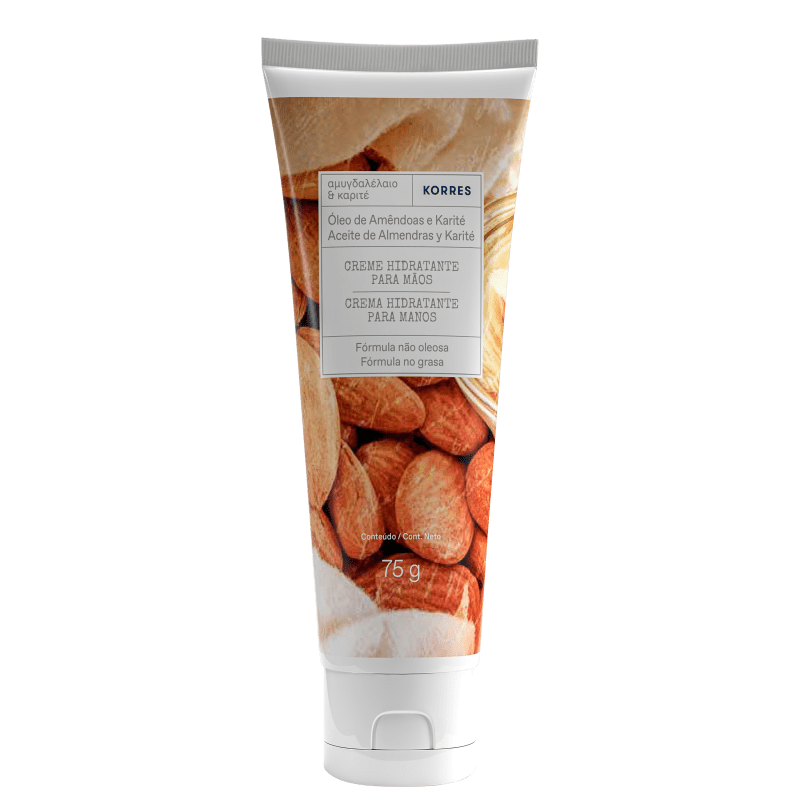 Korres Óleo de Amêndoas e Karité Creme Desodorante Hidratante para Mãos – 75g