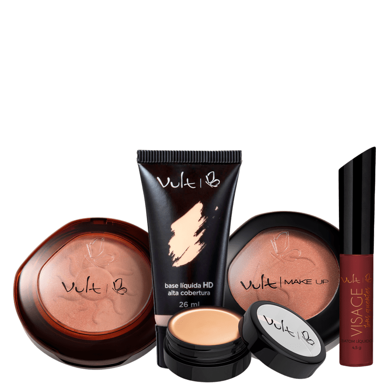 Kit Vult Make Bronzeada (5 Produtos)