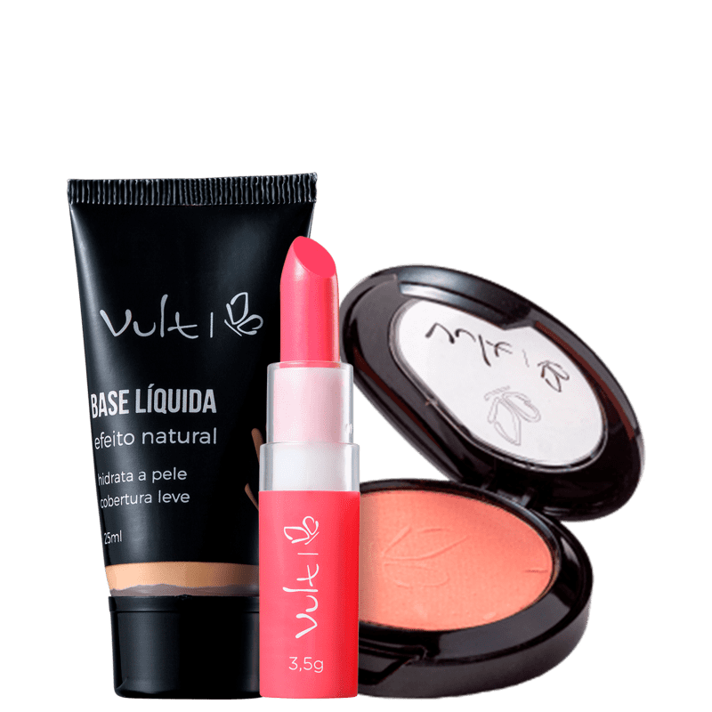 Kit Vult Efeito Natural Rosa #Fun (3 Produtos)
