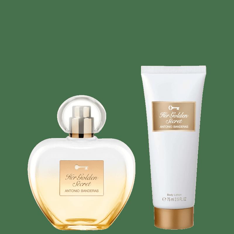 Conjunto Her Golden Secret Antonio Banderas Feminino - Eau de Toilette 80ml + Loção Corporal 75ml