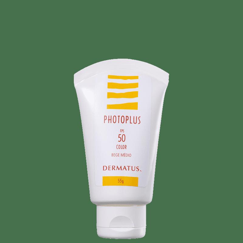 Dermatus Photoplus FPS50 Bege Médio - Protetor Solar Facial 55g
