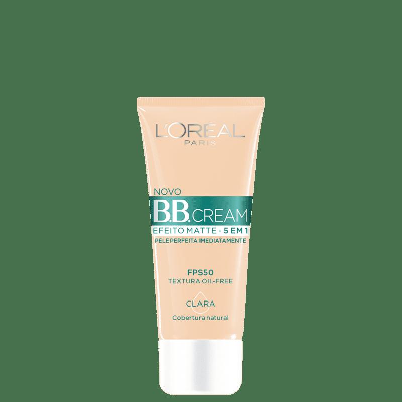 L'Oréal Paris 5 em 1 Efeito Matte FPS 50 Clara - BB Cream 30g