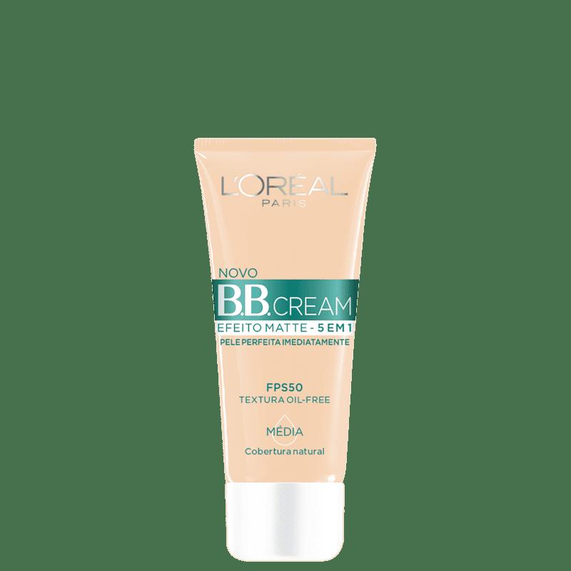 L'Oréal Paris 5 em 1 Efeito Matte FPS 50 Média - BB Cream 30g