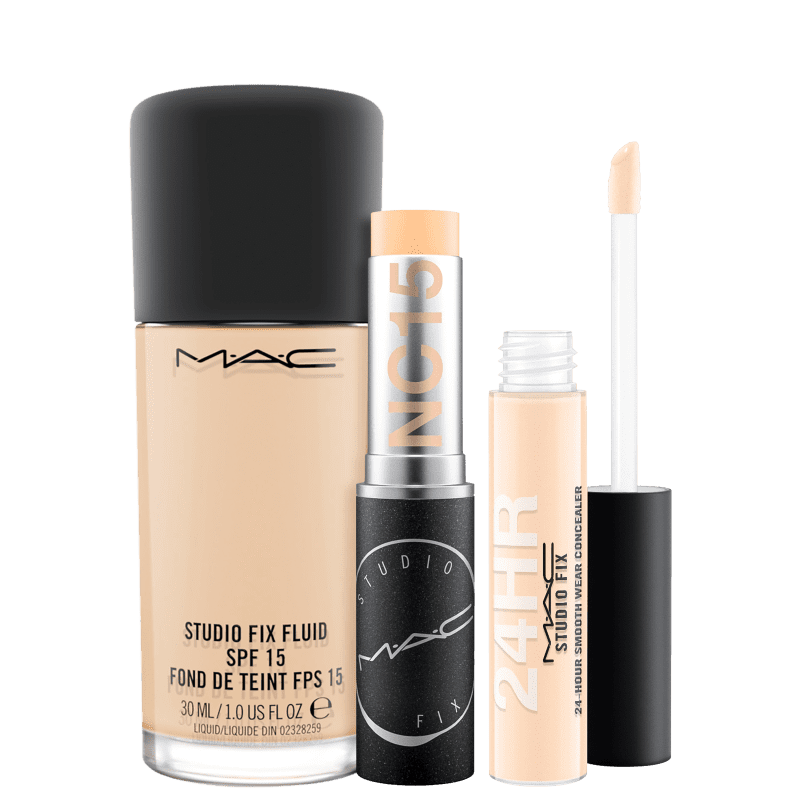 Kit M·A·C Studio Fix Perfect Skin NC15 (3 Produtos)