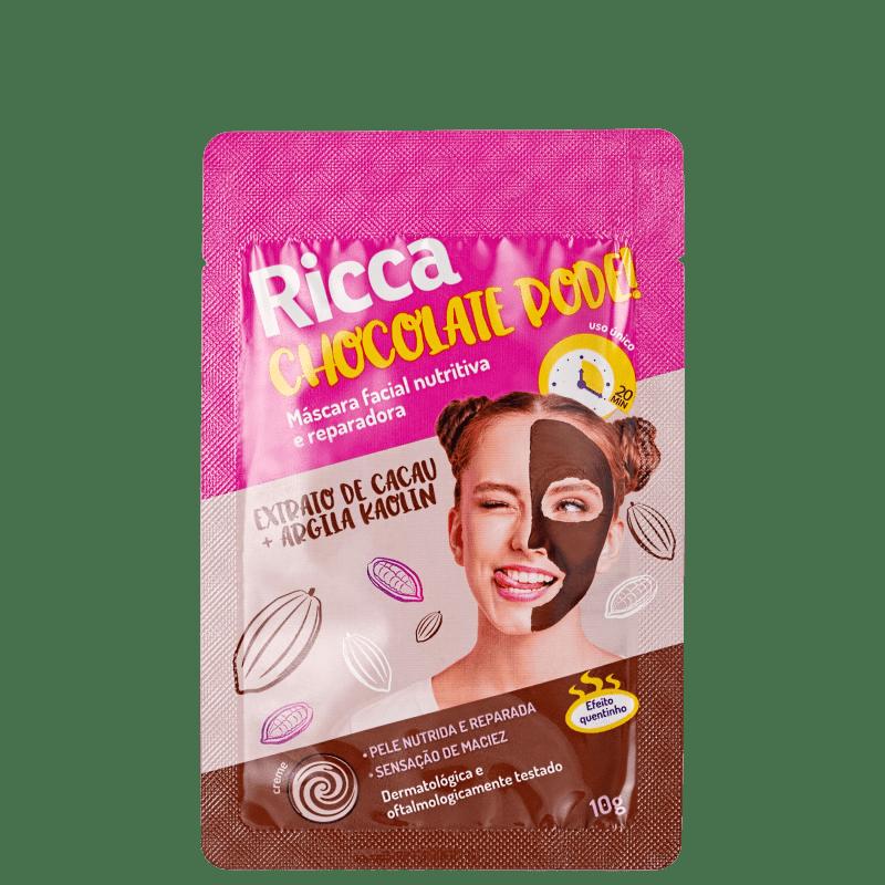 Ricca Chocolate Pode! - Máscara Nutritiva 10g