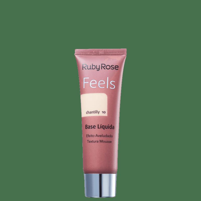 Ruby Rose Feels Chantilly 010 - Base Líquida 29ml