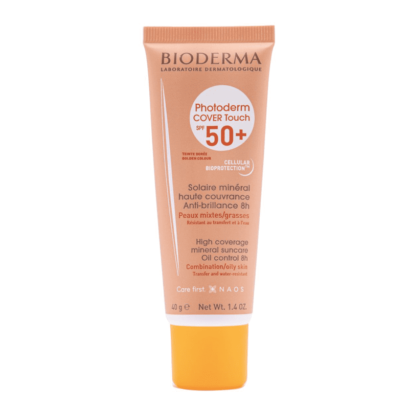 Bioderma Photoderm Cover Touch FPS 50+ Dourado - Protetor Solar Facial 40g
