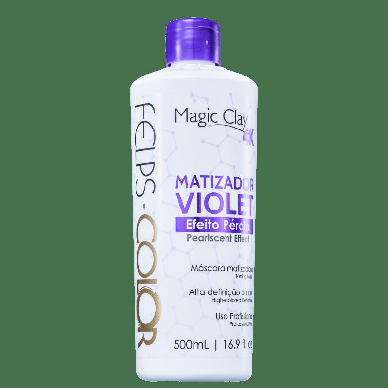 Felps Color Magic Clay 4K Violet Efeito Pérola - Máscara Matizadora 500ml