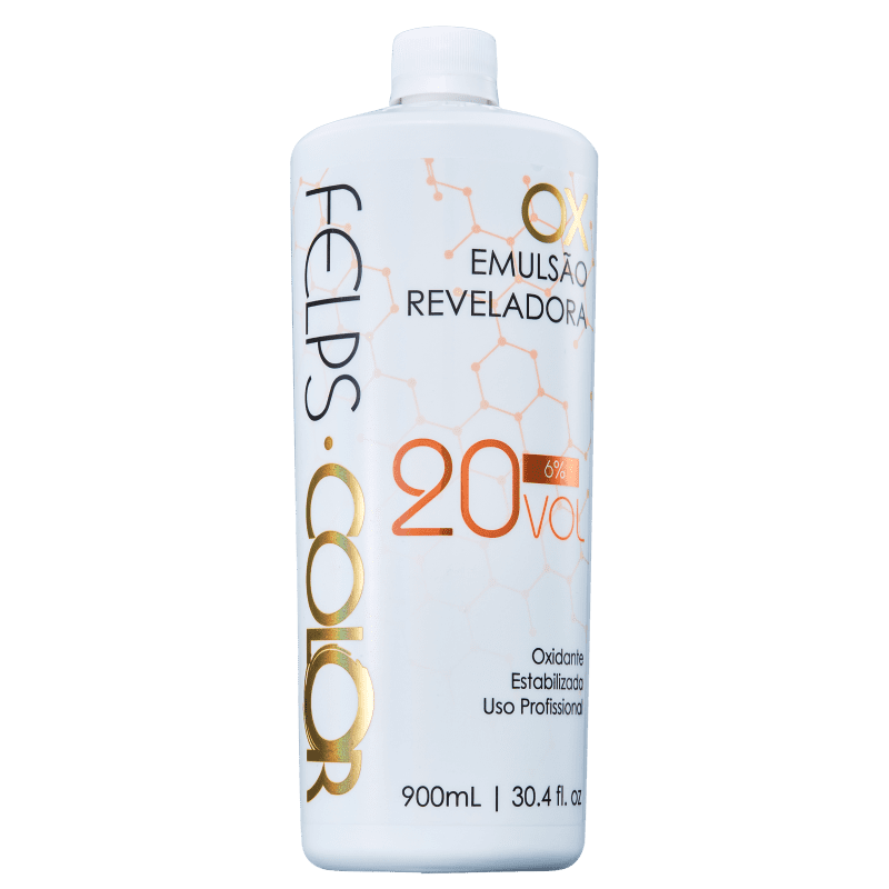 Felps Profissional Color OX 6% - Emulsão Reveladora 20 Volumes 900ml
