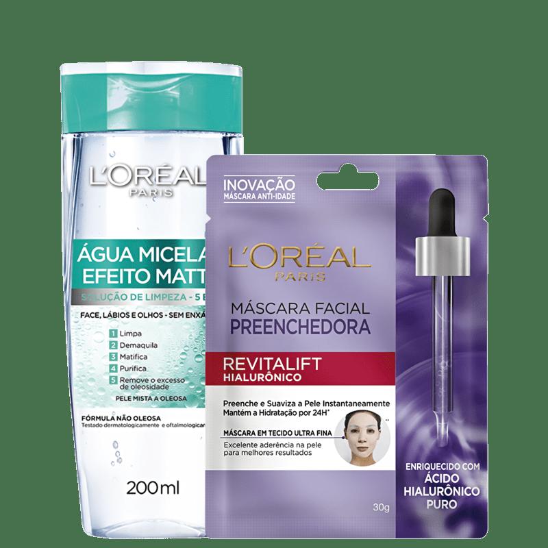 Kit L'Oréal Paris Efeito Matte & Revitalift (2 Produtos)