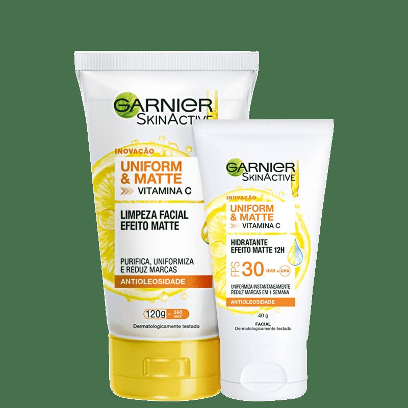 Kit Garnier SkinActive Uniform & Matte Vitamina C Duo (2 Produtos)