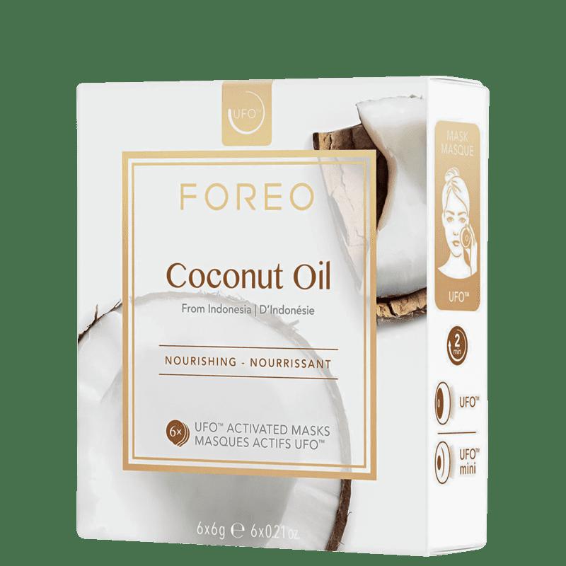 FOREO UFO Coconut Oil - Máscaras Faciais 6x6g