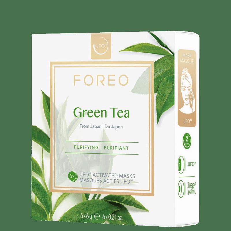 FOREO UFO Green Tea - Máscara Facial 6x 6g