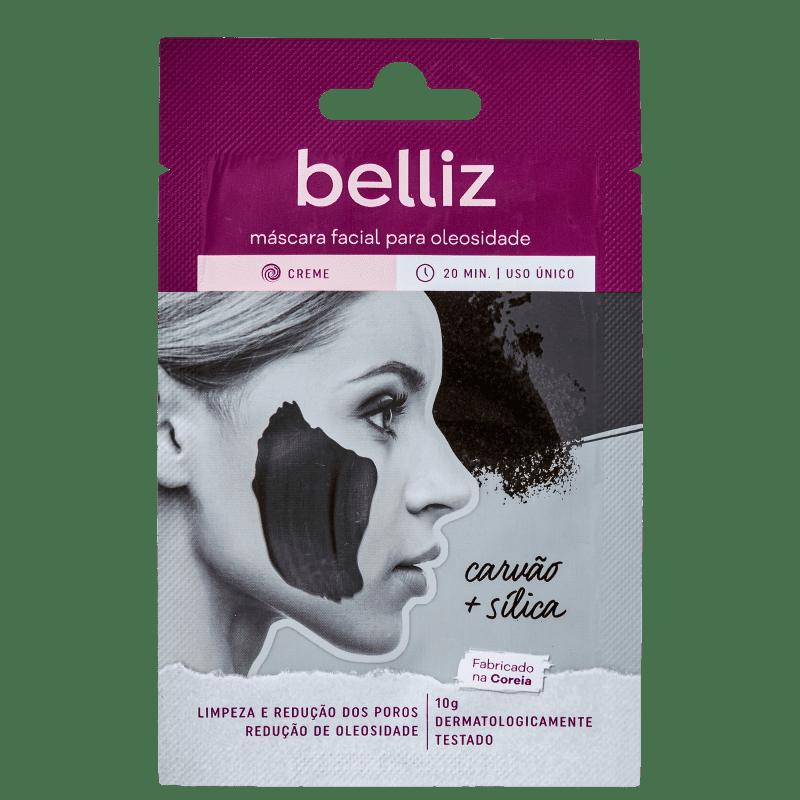 Belliz Para Oleosidade Carvão + Sílica - Máscara Facial 10g