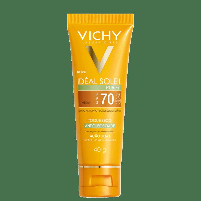 Vichy Idéal Soleil Purify FPS 70 Média - Protetor Solar com Cor 40g