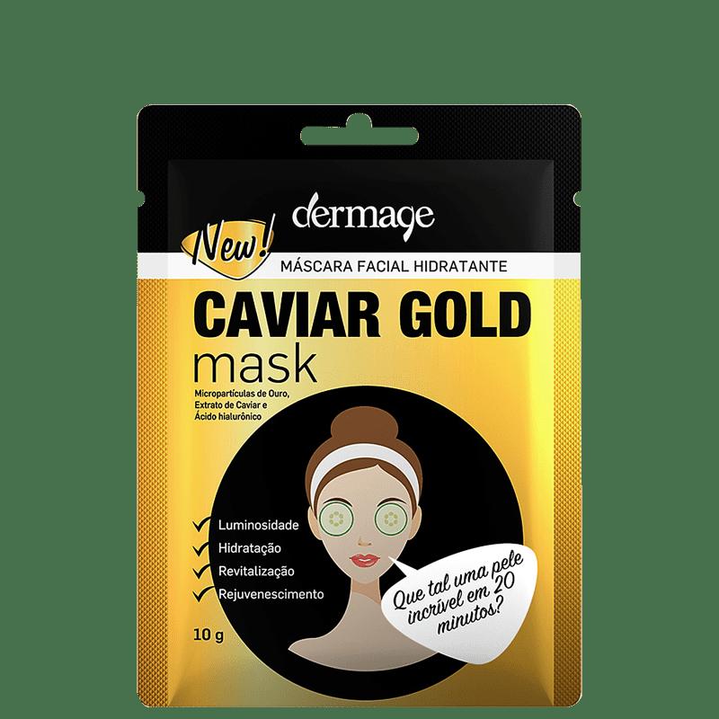 Dermage Hidratante Caviar Gold - Máscara Facial 10g
