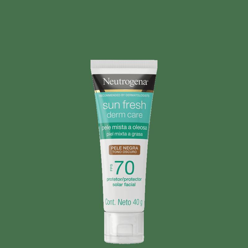 Neutrogena Sun Fresh Derm Care FPS 70 Pele Negra - Protetor Solar Facial 40g