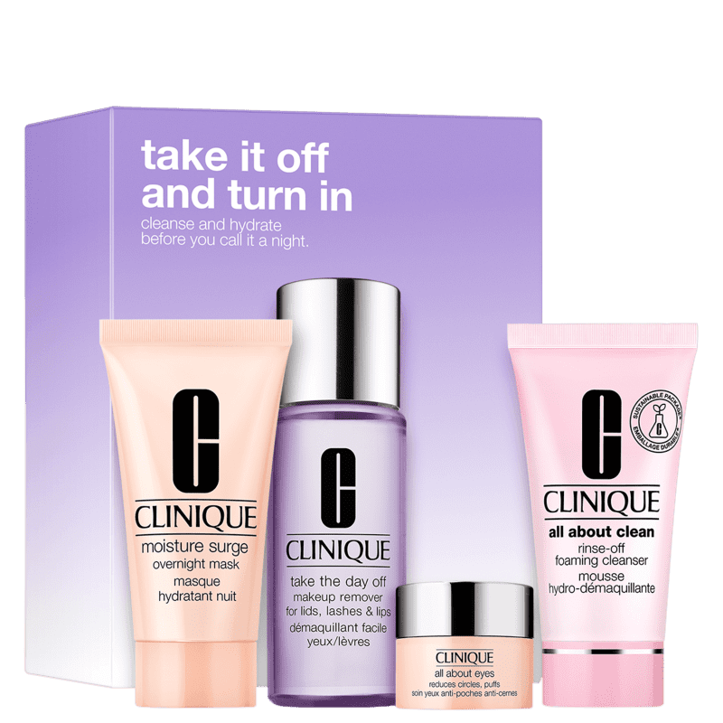 Kit Clinique Take it Off And Turn In (4 Produtos)