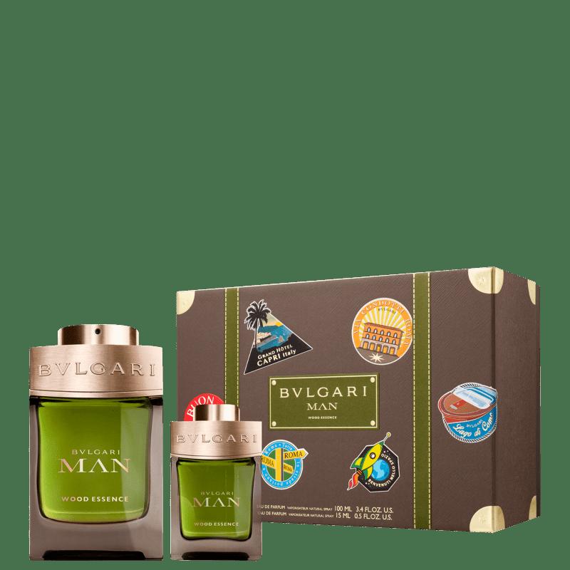 Conjunto Man Wood Essence Bvlgari Spring Masculino - Eau de Parfum 100ml + Travel Size 15ml