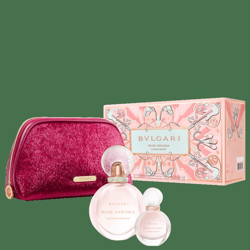 Conjunto Rose Goldea Blossom Delight Bvlgari Feminino - Eau de Parfum 75ml + Travel Size 15ml + Nécessaire