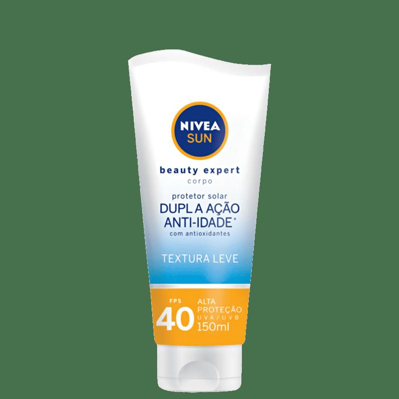 NIVEA Sun Beauty Expert Dupla Ação Anti-Idade FPS40 - Protetor Solar Corporal 150ml