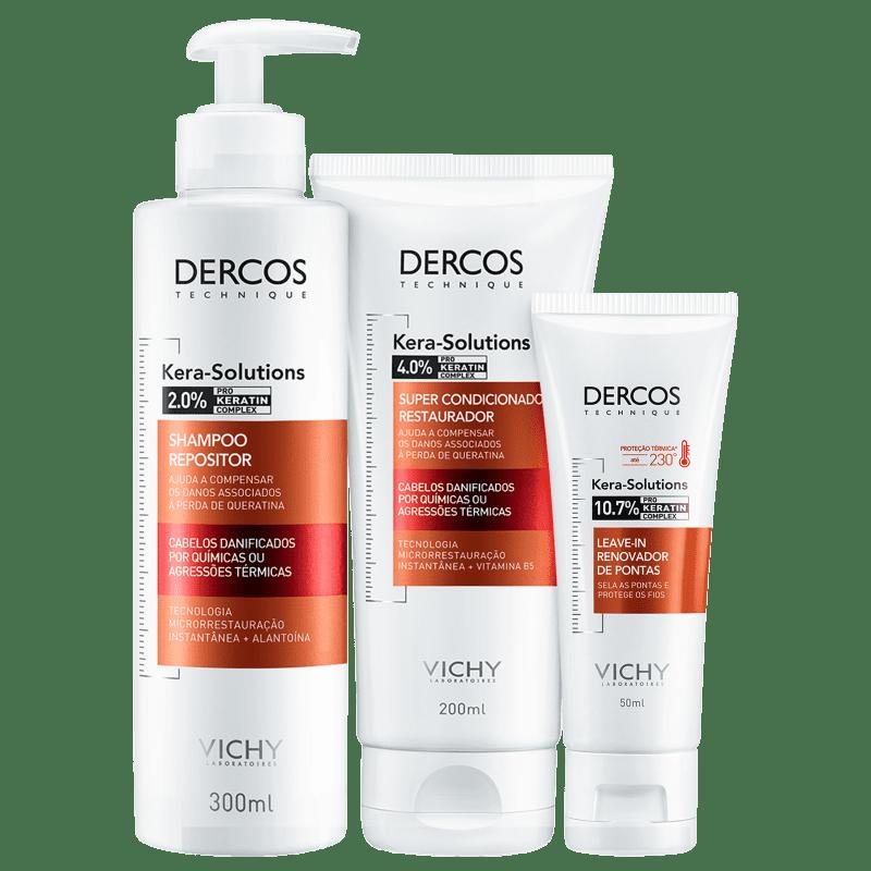 Kit Vichy Dercos Kera-Solutions Trio (3 Produtos)