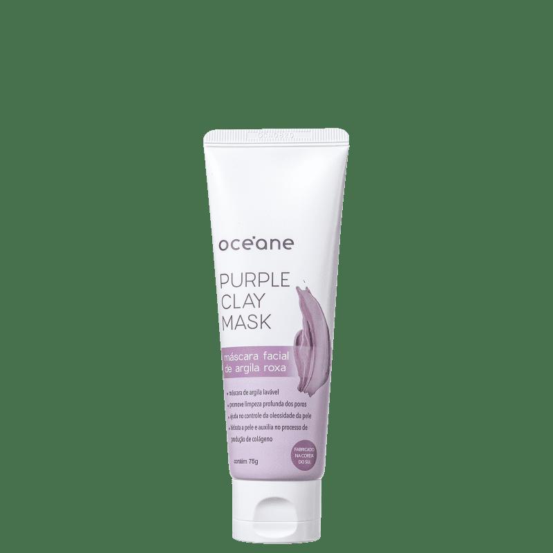 Océane Purple Clay Mask Argila Roxa - Máscara Facial 75g