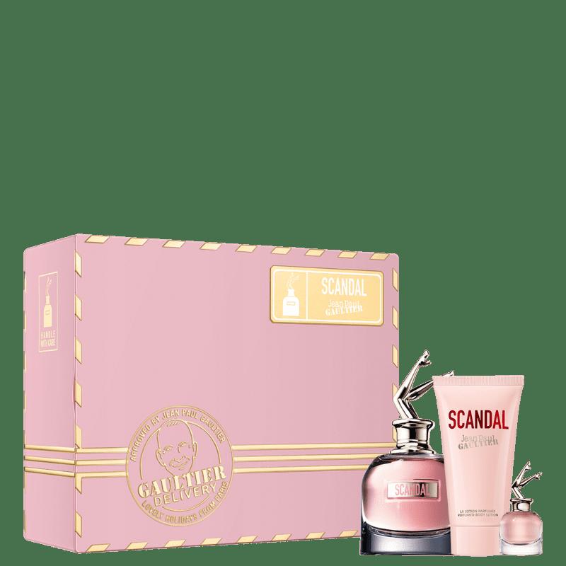 Conjunto Scandal Jean Paul Gaultier Feminino - Eau de Parfum 80ml + Eau de Parfum 6ml + Loção Corporal 75ml
