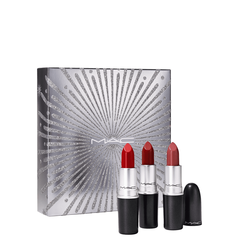Kit M·A·C Frosted Firework Sparkler Starter Lipsticks (3 Produtos)