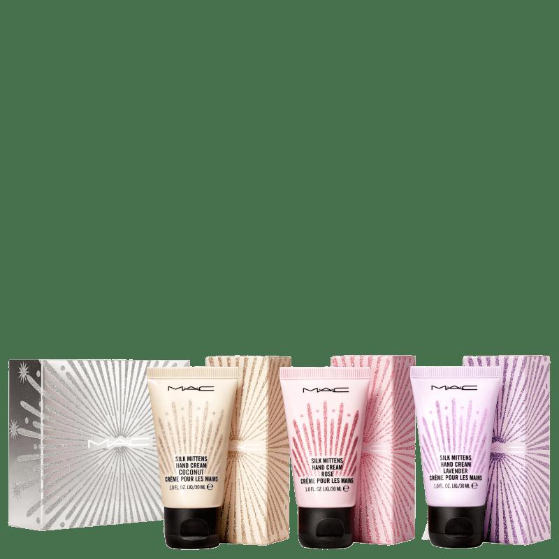 Kit M∙A∙C Frosted Firework Silk Mittens Hand Cream (3 Produtos)