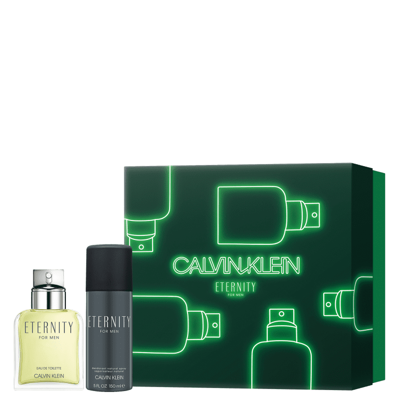Conjunto Eternity for Men Calvin Klein Masculino - Eau de Toilette 100ml + Desodorante Spray 150ml