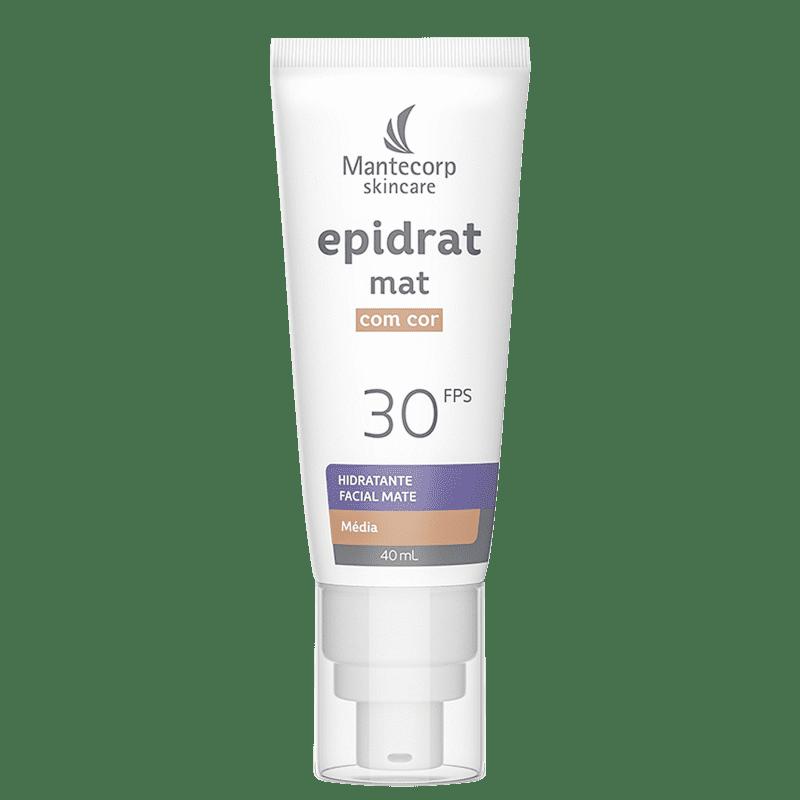 Mantecorp Epidrat FPS 30 Médio - Hidratante Facial com Cor 40ml
