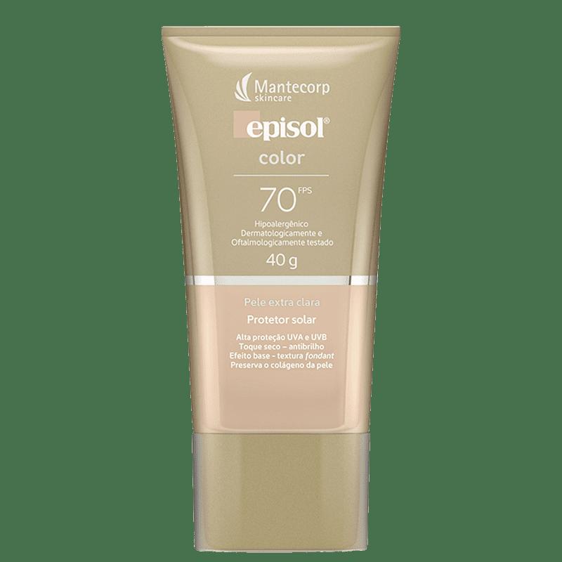 Mantecorp Episol Color FPS 70 Pele Extra Clara - Protetor Solar com Cor 40g