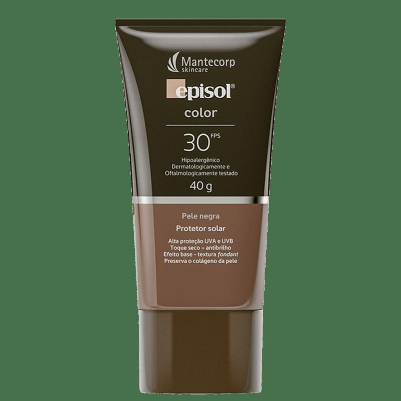 Mantecorp Episol Color FPS 30 Pele Negra - Protetor Solar com Cor 40g